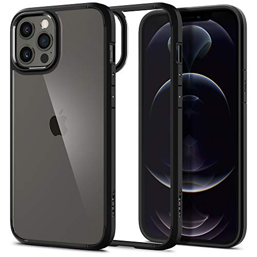 Spigen Ultra Hybrid Back Cover Case Designed for iPhone 12 Pro Max - Matte Black
