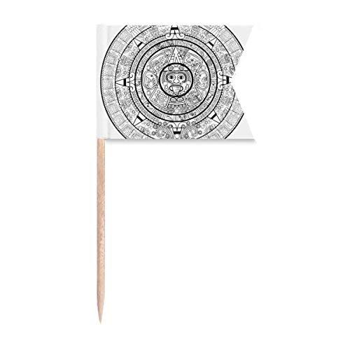 """Beauty Gift Antikes Ã""""gypten Abstraktes Pharaoh Muster Markierung für die Kennzeichnung von Zahnstocher-Flaggen"""