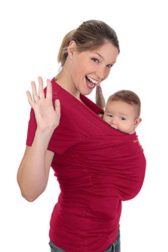 Camiseta de porteo, camiseta portabebés. Anticólicos bebé Amarsupiel Mujer talla XXL(52-54) color rojo