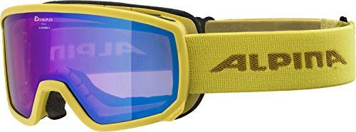 ALPINA Unisex - Erwachsene, SCARABEO S Q-LITE Skibrille, curry, One size