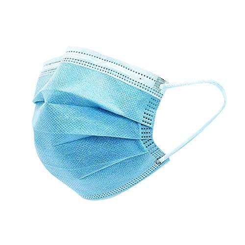 Pany Mundschutz 10/20/30/50 Staubschutz Einweg Dreischichtig Schutz mit Ohrringen Blau