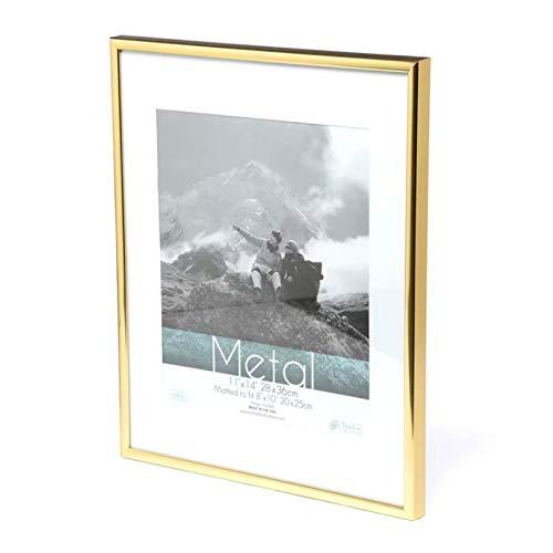 YOBAIH Marco de Fotos Marco de Metal de Oro clásico de la Foto Minimalista de Escritorio de la decoración del Marco 9x13 13x18 21x30cm Pleixglass Certificado Interior Marcos Foto