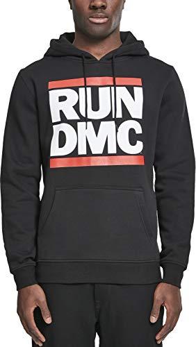 Mister Tee Herren Kapuzenpullover Run DMC Logo Hoody ,schwarz,L