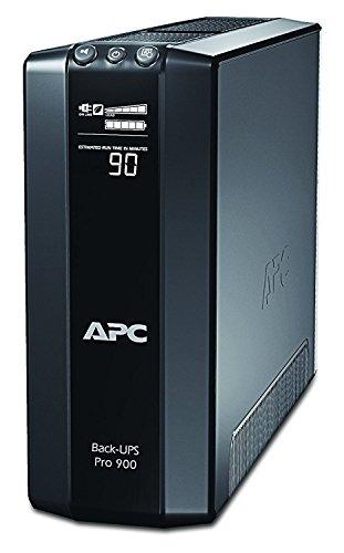 APC Back UPS PRO USV 900VA Leistung - BR900G-GR - inkl. 150.000 Euro Geräteschutzversicherung (5-Schuko Ausgänge, Stromsparfunktion, Multifunktionsdisplay)
