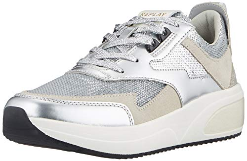 Replay Damen Creation Sneaker, Silber (050 Silver), 38 EU