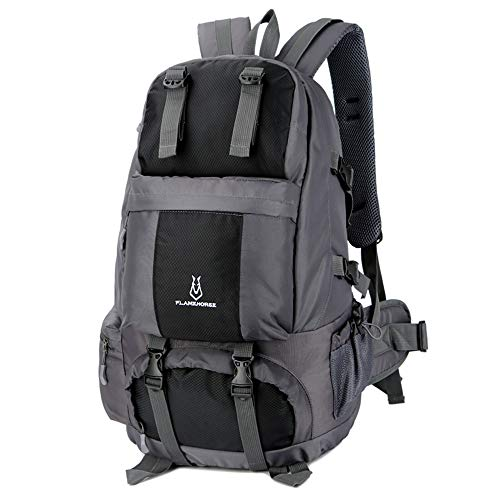 Lixada hiking backpack 50L waterproof trekking backpacks with shoe compartment for climbing camping mountaineering black