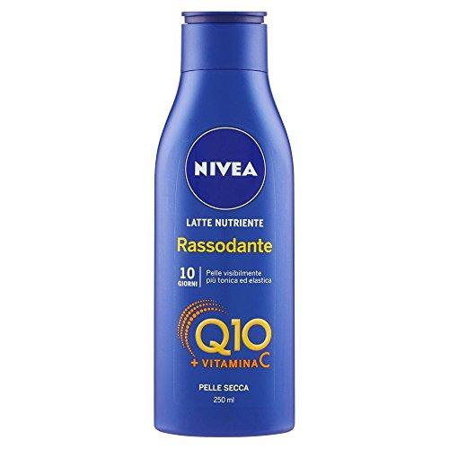 NIVEA Latte Idratante Rassodante Q10 Vitamina C, Crema Corpo Pelle Secca, 250 ml
