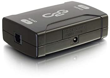 C2G 40019 Optical to Coaxial Digital Audio Converter TAA Compliant Black