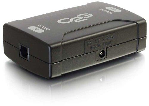 C2G 40019 Optical to Coaxial Digital Audio Converter, TAA Compliant, Black