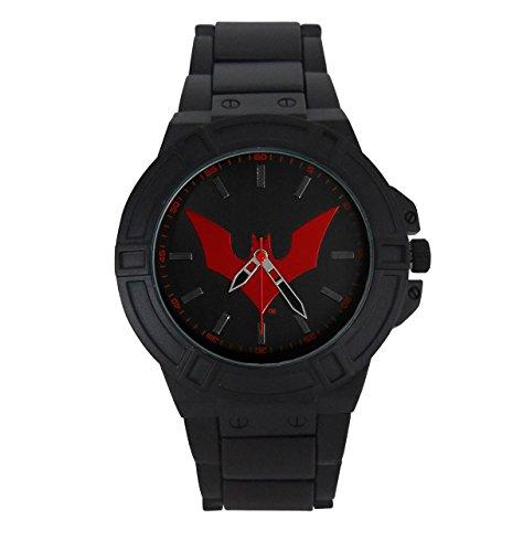 Más allá de Batman Logo de los hombres reloj de pulsera con banda de metal