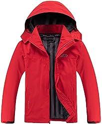 Otu Men's Light-weight Waterproof Hooded Rain Jacket