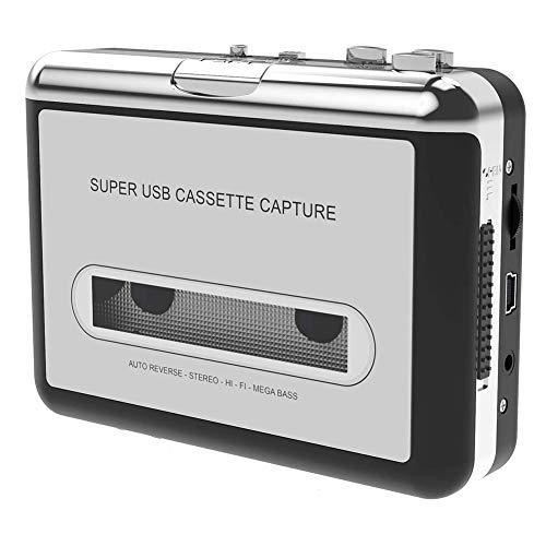 Kassettenspieler Standalone Portable Digital USB Audio Musik/Kassette zu MP3 Konverter, Kompatibel mit Mac und PC