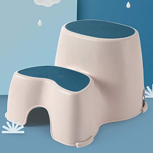 TALENT Zweistufiger Tritthocker,Toiletten-Tritthocker,Kinder-Tritthocker,zum Trainieren und Verwenden von Töpfchen im Bad oder in der Küche (1 Stück)