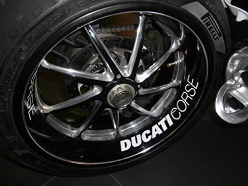 Ducati Corse Felgenaufkleber weiß