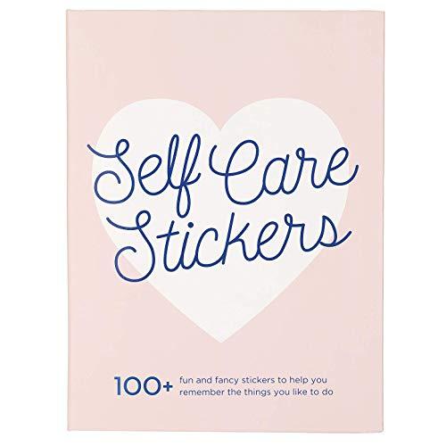 """Eccolo World Traveler Free Period Press Sticker Book Folio, """"Self Care Stickers"""" Sticker Pad and Puffy Stickers, Hardcover, 5x7"""
