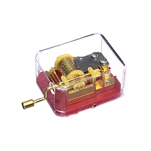 Laxury Caja de música de plástico Juego Siempre Conmigo Desde Anime de el Viaje de Chihiro ((Modelo: sy002, Oro Movimiento, Juego de 1, Rojo