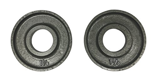 Ivanko (OM-1.25 Cast-Iron, Machined Olympic Plate Grey 1.25 lbs (Pair)