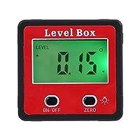 Digital Protractor LCD Display Inclinometer Level Box Protractor Angle Finder Gauge Meter