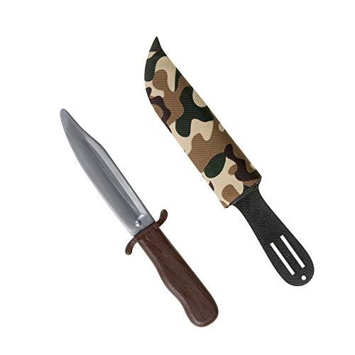 Widmann 6985D, Militär - Messer, Safari - Messer, Outdoor- oder Soldaten - Messer mit Scheide zu den geeigneten Kostümen, Größe: ca. 28,0 x 1,5 x 5,5 cm aus Plastik