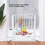 cancelletto di sicurezza per bambini, cancello di sicurezza regolabile per porte da 75 a 96 cm
