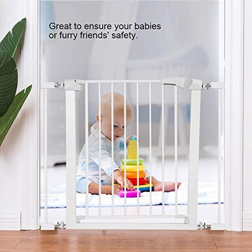 Puerta de seguridad para mascotas, puerta de casa, puerta de seguridad, puerta de seguridad, puerta de seguridad ajustable escalera puerta de seguridad para puerta de 75-96 cm a través de caminata