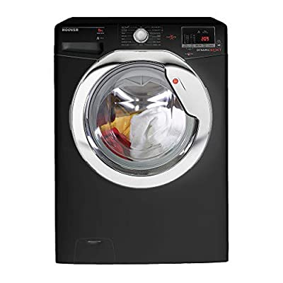 Hoover DXOC68AC3B 8 Kilogram Glossy Black Washing Machine With A Plus Plus Plus Energy Rating, Up To 1600rpm Spin Speed, Delay Start and A Washing Performance