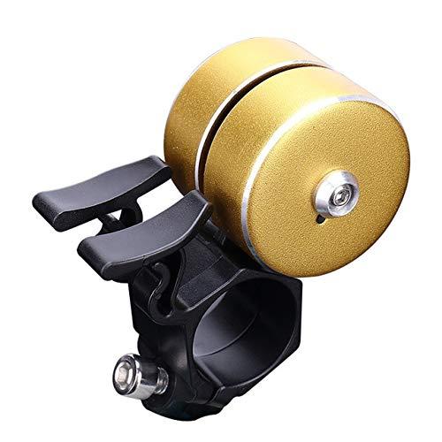 WEHONG 1 Stück Fahrradklingel Doppelklick 120Db Fahrradlenker Glocke Alarm Fahrradhorn Fahrradausrüstung FahrradzubehörGelb