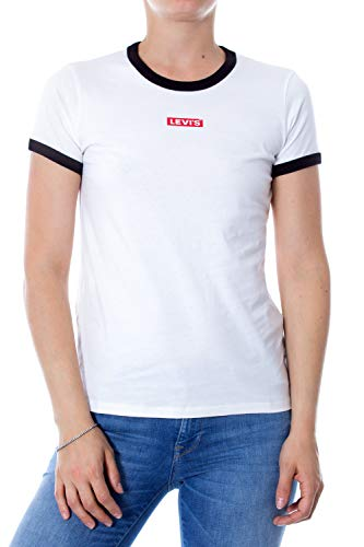 Levi´s T-Shirt Damen Perfect Ringer Tee 35793-0047 Weiss, Größe:S