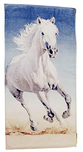 SWEET HOME - Toallas de Mano (70 x 140 cm, 100% algodón, con Certificado Öko Tex Standard 100), Caballo Blanco, 70 x 140 cm