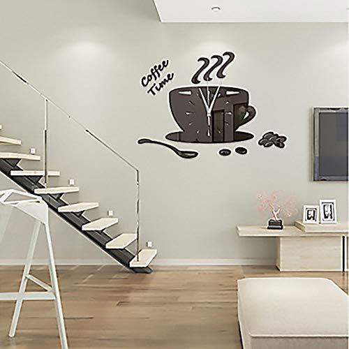 The only good quality Mooie moderne creatieve hedendaagse acryl onregelmatige koffiemok vorm binnen slaapkamer woonkamer wandklok/klok mode