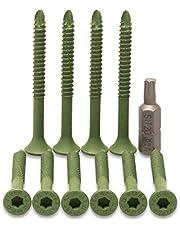 Multipick Trekschroef kraekt vrijwel elk slot - 4,2 x 47 mm - 10 stuks + 1 SIT®-20 bit - sleutelservice trekschroef (groen) met zeer hoge breukstabiliteit - professionele deuropener gereedschapsset