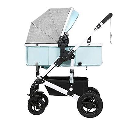 Guo@ Cochecito de bebé, plegable ligero Amortiguador Niños Push Baby Carriages Carro infantil Acero de alto carbono White-frame (Color : #2)