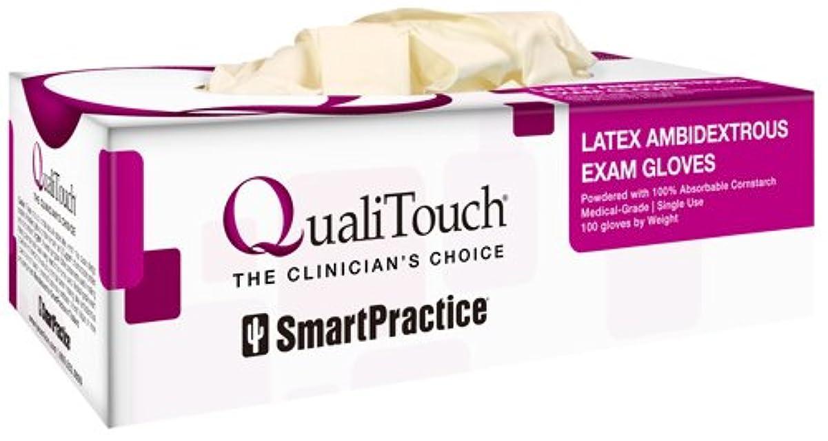 サンダー引き潮視線Quali Toch(クオリタッチ) 医療用ラテックスグローブ 100枚入り 1箱 (XS)
