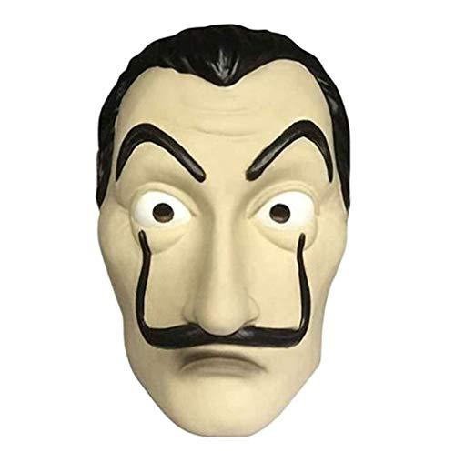 Máscara Dali Mask CASA de Papel Salvador Dali Látex Mascarilla Realistic Cosplay Máscara de fiesta