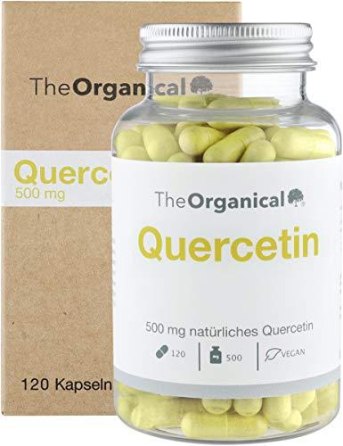 Einführungspreis (NEU): TheOrganical® Quercetin Kapseln | 120 Kapseln mit 500mg natürlichem Quercetin | Hergestellt in Hamburg