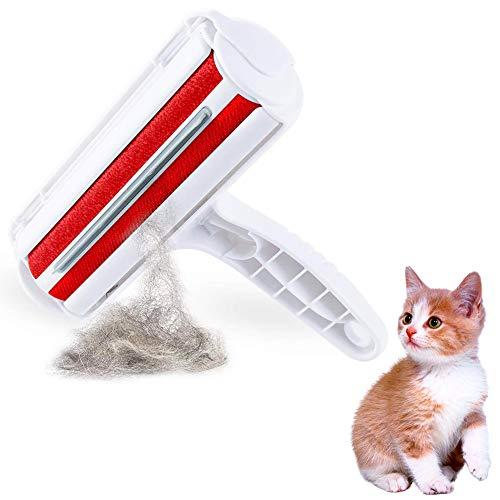 BETOY Tierhaarentferner, Tierhaarentferner Fusselrolle Universal tragbar Fusselbürste für Haustierhaar Tierhaarentferner Roller für Haustier,Möbel, Bettwäsche, Couch, Teppich, Kleidung, Reise,Rot