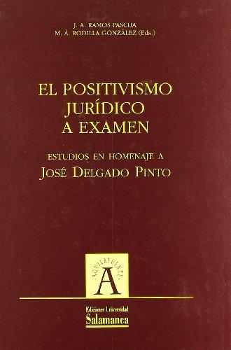 El positivismo jurídico a examen. Estudios en homenaje a José Delgado Pinto (Aquilafuente)