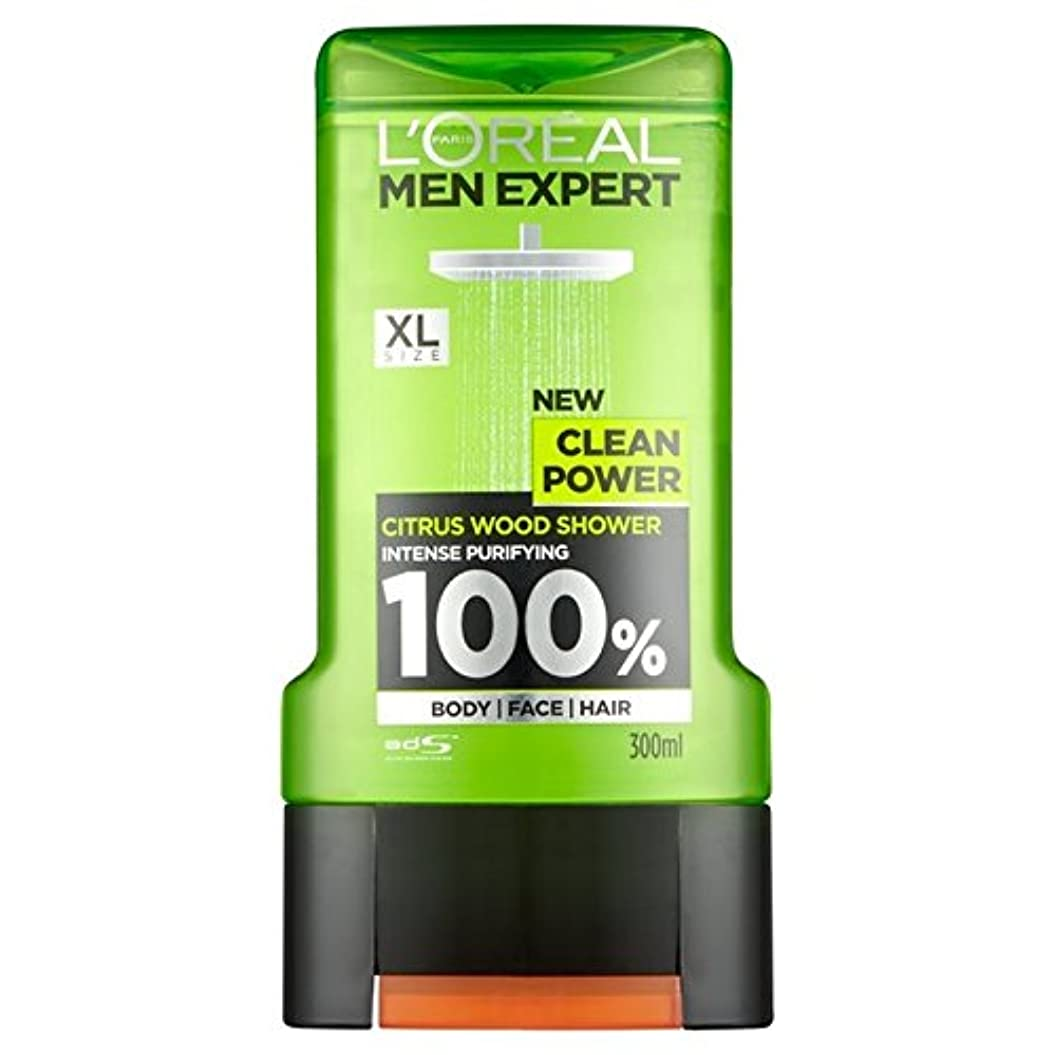 愛情クリームめ言葉L'Oreal Paris Men Expert Clean Power Shower Gel 300ml - ロレアルパリの男性の専門家クリーンパワーシャワージェル300ミリリットル [並行輸入品]
