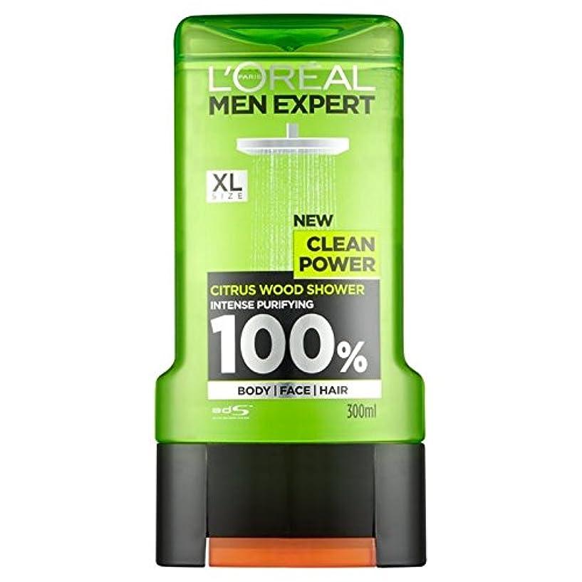 取り除く子試してみるロレアルパリの男性の専門家クリーンパワーシャワージェル300ミリリットル x2 - L'Oreal Paris Men Expert Clean Power Shower Gel 300ml (Pack of 2) [並行輸入品]