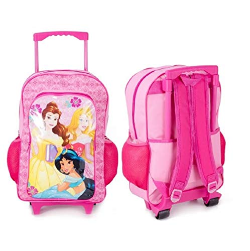 DISNEY PRINCES Deluxe Trolley Backpack Cabin Bag Kids Girls Suitcase