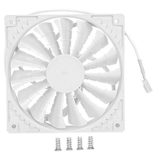 Ventilador de chasis, radiador de chasis de disipación de calor, 4.7 x 4.7 x 1 pulg.(White 4PIN)