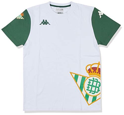 Kappa Airin Betis Camiseta, Hombre, Blanco/Verde, M