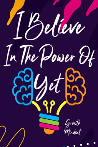 Account Information Notebook - Growth Mindset Teacher I Believe in the Power of Yet