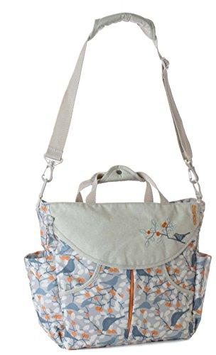 okiedog SUMO 39051 flexible Wickeltasche mit Henkel, Schultergurt, Rucksack, Kinderwagenhaken, Wickelunterlage, isol. Flaschenhalter und Zubehörbeutel, Orange blau orange, ca. 47 x 40 x 14 cm