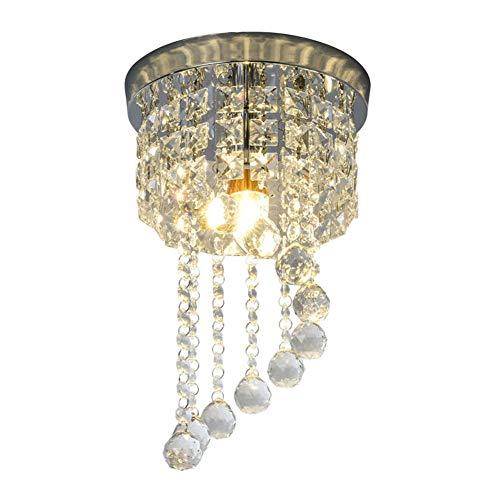 Cristal plafonnier encastré Élégant Lustre Décor Parfait pour le couloir/escalier/chambre/salle à manger,E14/E12