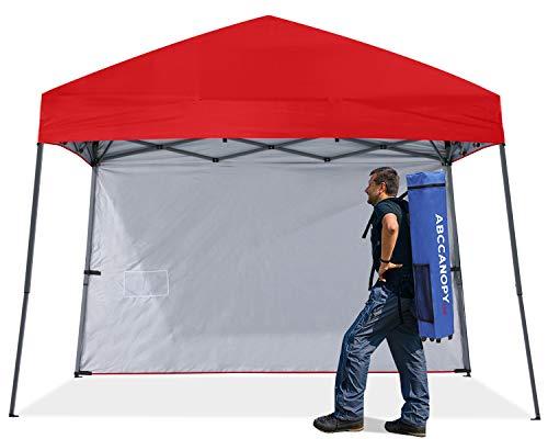 ABCCNAOPY - Toldo plegable para exteriores, con 1 pared solar, bolsa para mochila, estacas y cuerdas, color morado