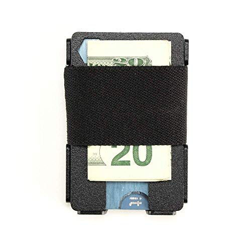 Ranger Minimalist RFID Blocking Front Pocket Wallet For Men Rugged Material BLK