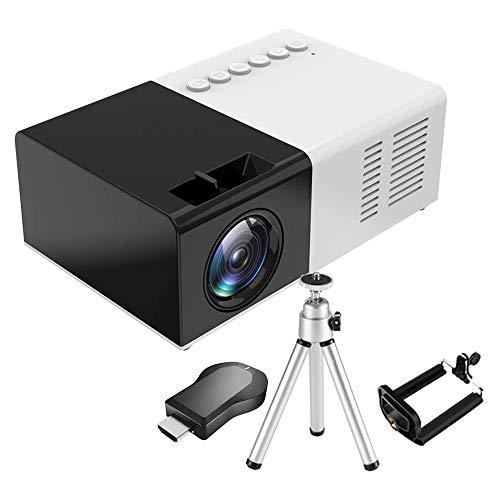 Mini Beamer - Heimkino Beamer Tragbar Unterstützt 1080P Full HD, 3000 Lumen Video mit100'' Display, 50000 Stunden LED Projektor Kompatibel mit HDMI/USB/SD/AV/VGA/TV Box/Smartphone