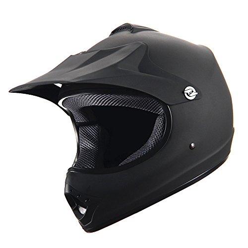 WOW Youth Kids Motocross BMX MX ATV Dirt Bike Helmet Matt Black