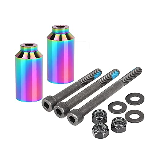 CML Scooter Stunt Peg Sets Pro Scooter Peg Sets con Hardware de Eje 2.5', 3.0', 3.5'para Freestyle Scooter Grinds (Color : Neo Chrome pegs01)